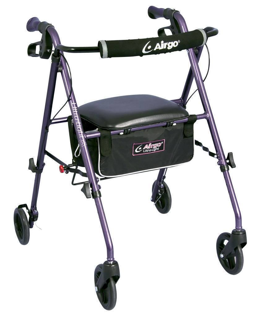 AirGo Ultra Light Rollator - Eggplant