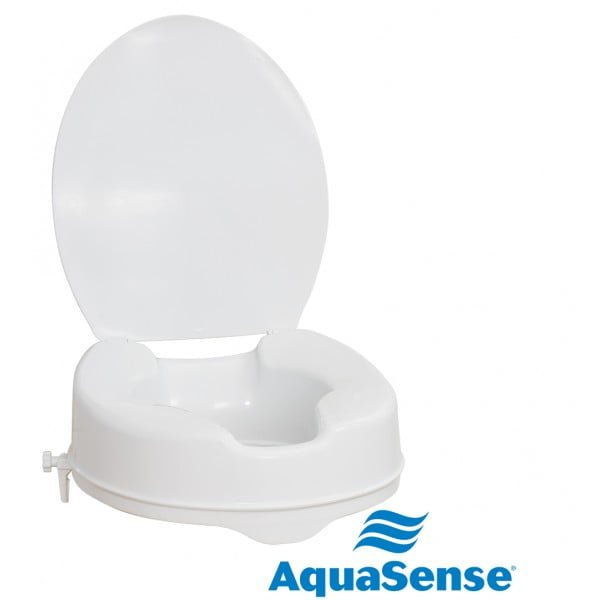 HMR AquaSense Raised Toilet Seat with Lid