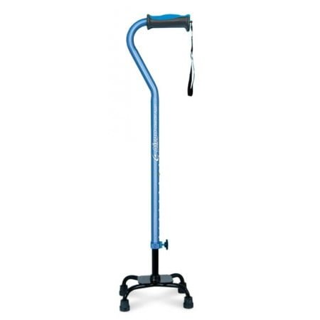 AirGo Comfort-Plus Large Base Quad Cane - Blue