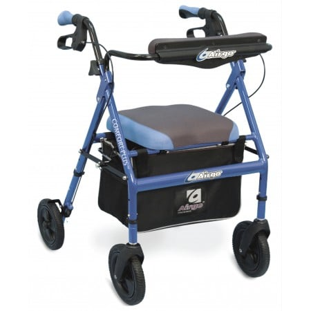 AirGo Comfort-Plus XWD Rollator Bariatric Iridescent Blue